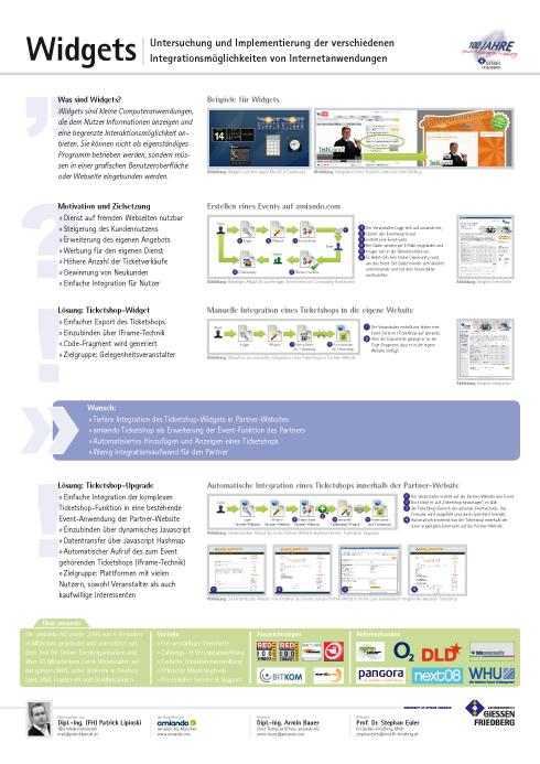 VDE: Präsentation Widgets: Infoplakat